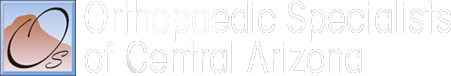 Orthopaedic Specialists of Central Arizona Logo light square with mountain in it